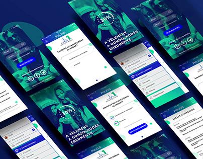 PULZUS app design