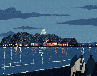 Enoshima Night
