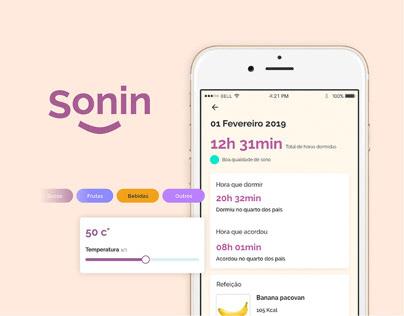 Sonin app - Rotina de sono para bebês