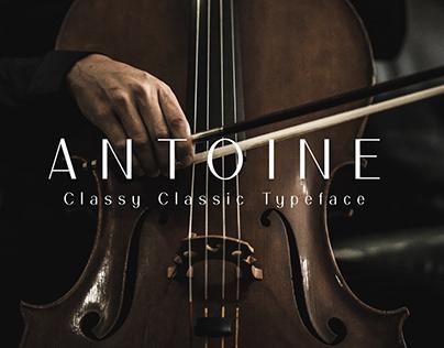 ANTOINE Classy Classic Typeface