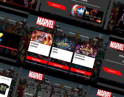 Marvel - Website Redesign