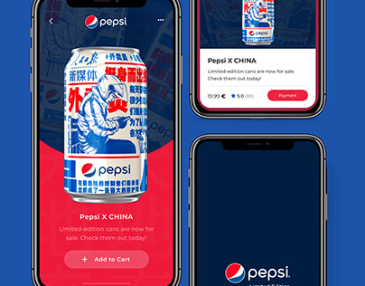 Pepsi Limited Edition Concept App Design