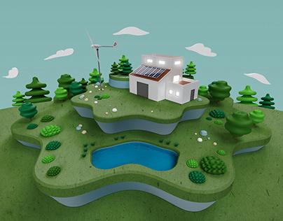 Infografía 3d del montaje de instalaciones para Bornay