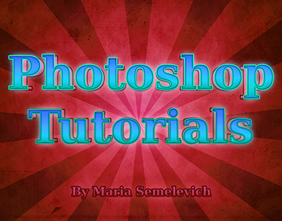 My Photoshop tutorials. Part 4 .