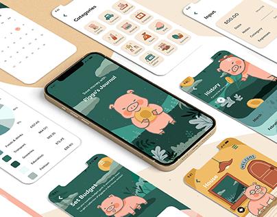 Piggo's Journal - UI Design
