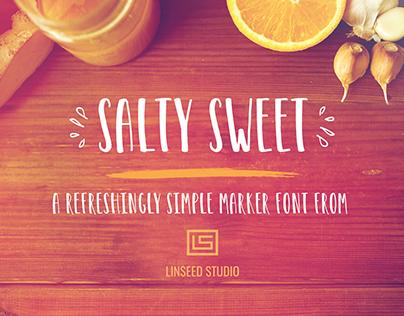 Salty Sweet Free Marker Font