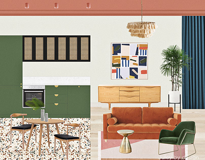Collage visualization of the apartment