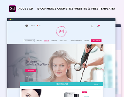 E-commerce cosmetics website(3 FREE TEMPLATE)