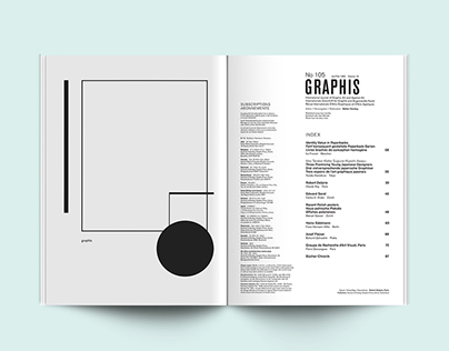 GRAPHIS MAGAZINE - CONTENT PAGE