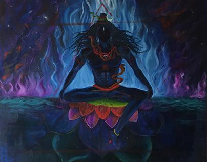 """""""Smararaari"""" - 48""""x48""""- Oil Painting on Cavas"""