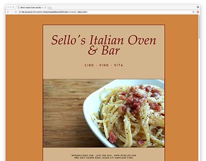 HTML Restaurant Menu