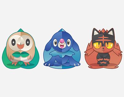 Pokemon Starters: Sun and Moon