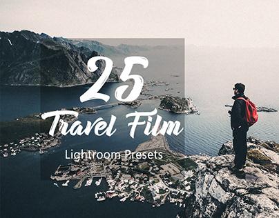 25 Travel film Lightroom Presets by HubaFilter
