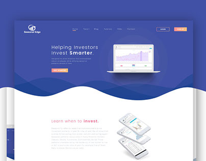 Seasonal Edge | Landing Page Web Design