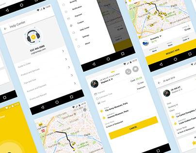 Taxi App - Android Material UI Template