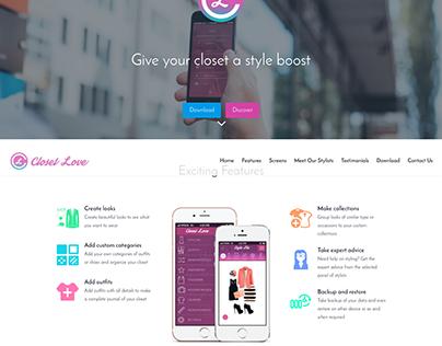 Wordpress site for an app
