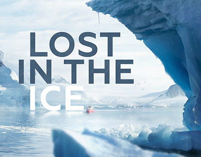 Lost in the ice. Photorealistic illustration