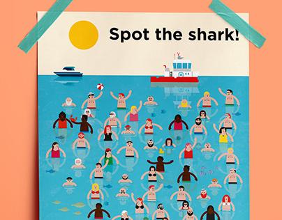 Spot the shark.