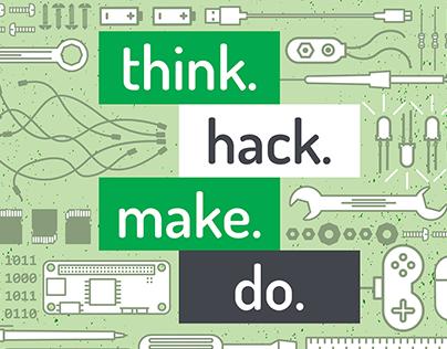 Workshop Flyer: think. hack. make. do.