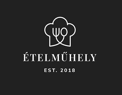 Ételműhely logo design and print design