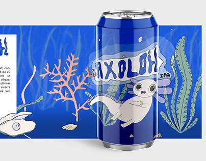 Axolotl IPA - Illustration packaging