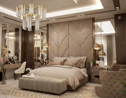 villa master bedroom design