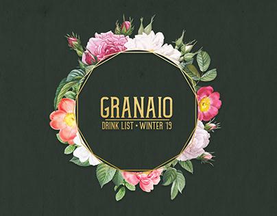 Granaio - Drink List - Winter '19