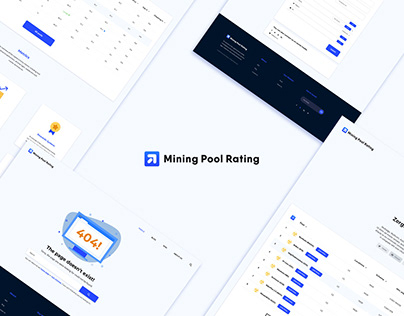 """Identity and Web design for """"Mining Pool Rating"""""""