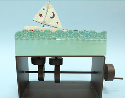 Boat riding waves - Automata Toy