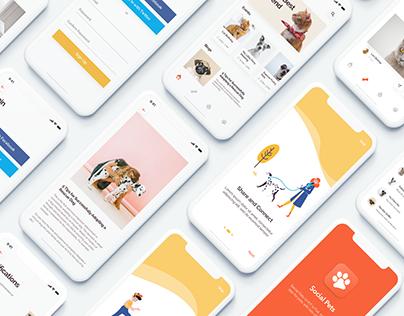 Social Pets App UI Kits