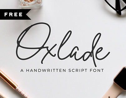 FREE | Oxlade Script Font