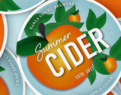 Summer Cider & Lager — Tap Labels and Coasters