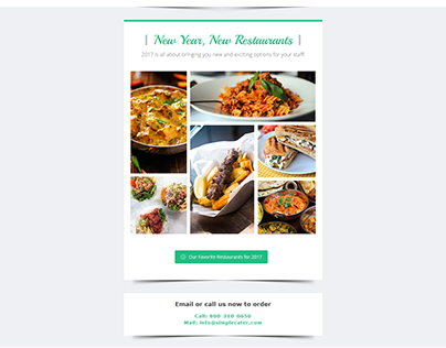 New Year Restaurants Email Template