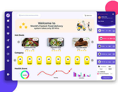 Food dashboard UI Design