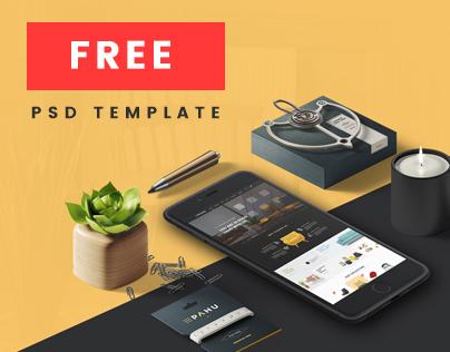 PAHU - Free PSD Website Template