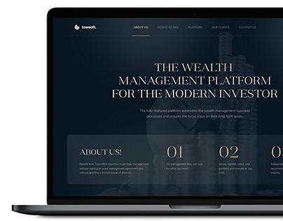 One-Page Website for a Wealth Management Platform