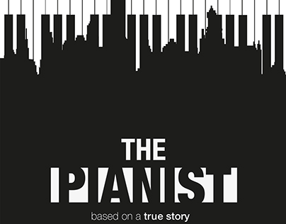 "2D Movie poster ""The Pianist"""