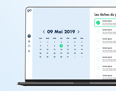 Calendar dashboard #DailyUI