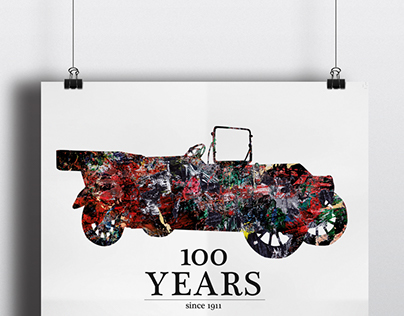 CHEVROLET 100 year anniversary poster contest. 3d place