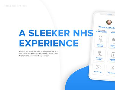 NHS App Revisualised (UX/UI)