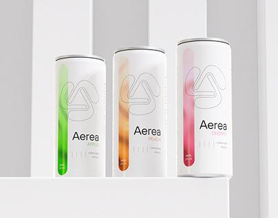 Aerea Soda visual identity
