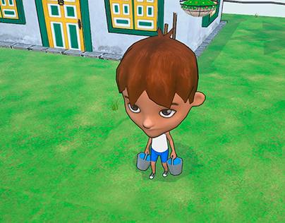 Mi pueblo_Game Art _ 3D Test 1