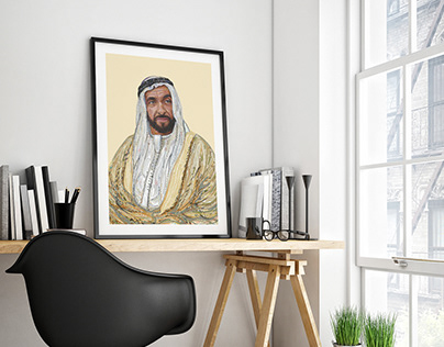 Sheikh Zayed - portrait