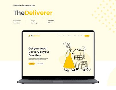 Website Presentation - TheDeliverer