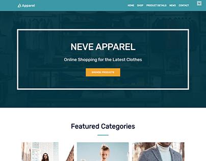 Apparel Full Website Design