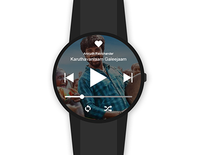 Smart watch music app UI design