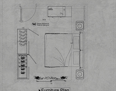 WORKING DRAWING FOR MASTER BEDROOM
