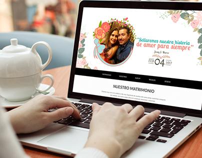 Llego mi boda - Diseño y desarrollo Web