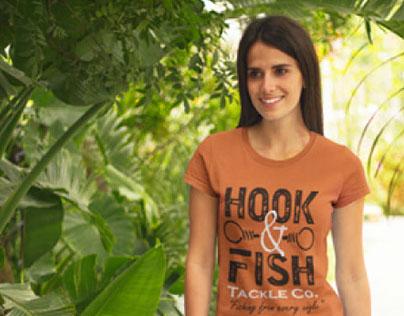 Logo Design: Hook & Fish Tackle Co.