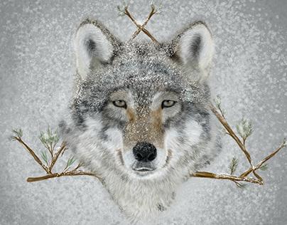 Hyperrealist Wolf